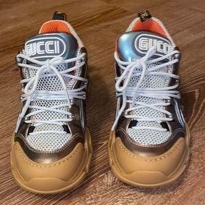Gucci Flashtrek Sneaker Multi Brown/Teal/ Pink